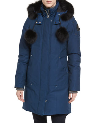 Moose Knuckles Stirling Hooded Parka Jacket w/ Fur