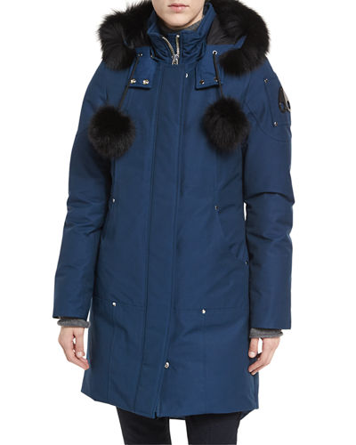 Stirling Hooded Parka Jacket w/ Fur Collar