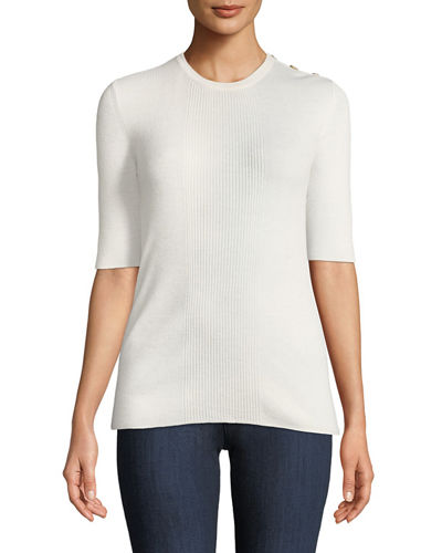 Taylor Lightweight Rib-Knit Cashmere Sweater