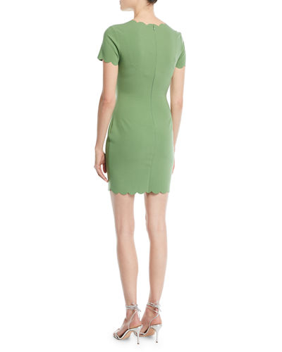 Manhattan Scalloped Sheath Dress
