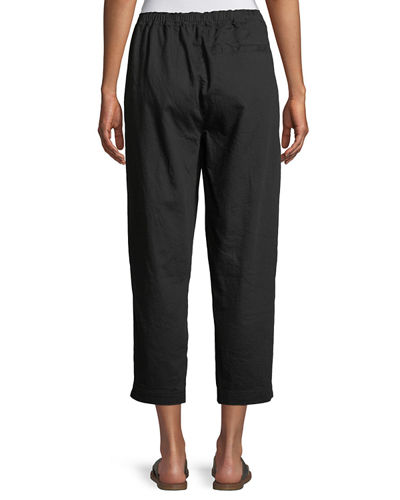 Soft Organic Twill Cropped Taper Pants, Petite