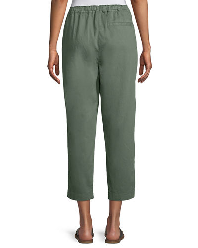 Soft Organic Twill Cropped Taper Pants