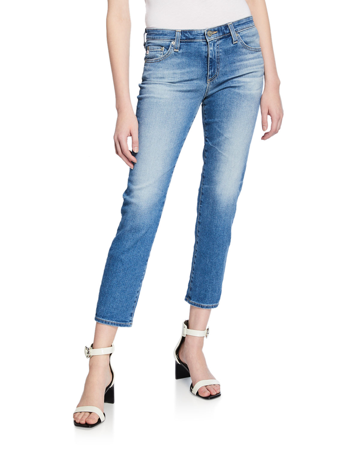 Ag Jeans PRIMA MID-RISE CROPPED DENIM SKINNY JEANS