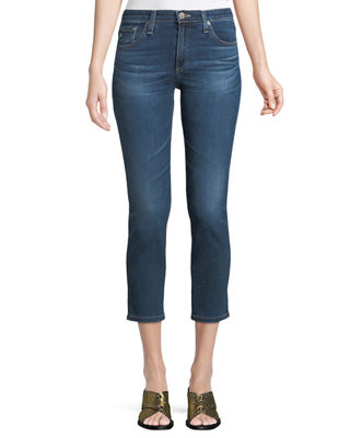 AG Adriano Goldschmied Prima Mid-Rise Cropped Denim Skinny