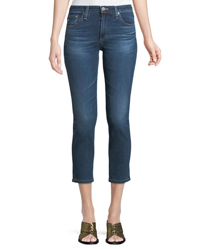 AG Prima Mid-Rise Cropped Denim Skinny Jeans
