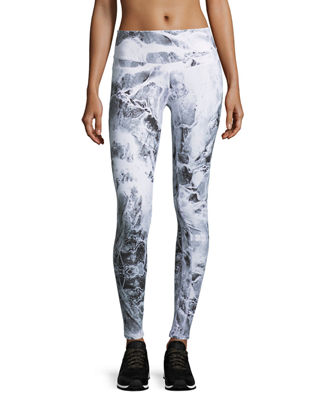 Varley Union Croc-Print Full-Length Sport Leggings