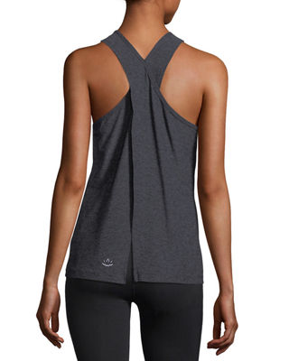 Image 2 of 2: Scoop-Neck Lightweight Cross-Back Performance Tank