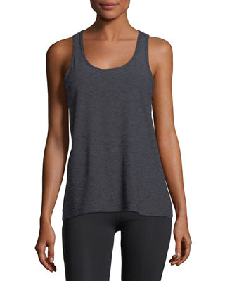 Image 1 of 2: Scoop-Neck Lightweight Cross-Back Performance Tank