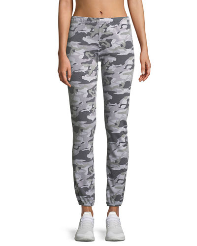 Camo-Print Full-Length Sweatpants