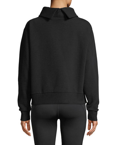 Simon Ribbed Side-Zip Sweater