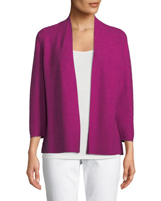Eileen Fisher 3/4-Sleeve Slub Simple Cardigan and Matching