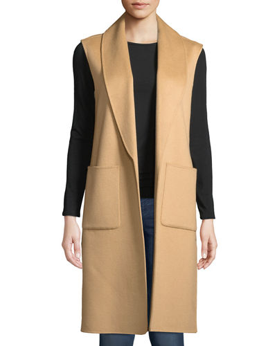 Luxury Double-Faced Shawl-Collar Cashmere Vest