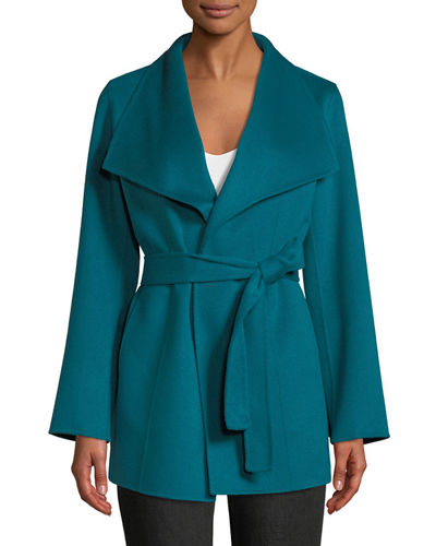 Luxury Double-Faced Cashmere Mid-Length Wrap Coat