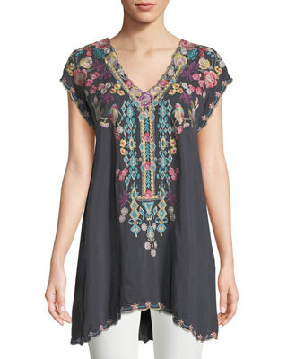 Johnny Was Petunia Georgette Tunic