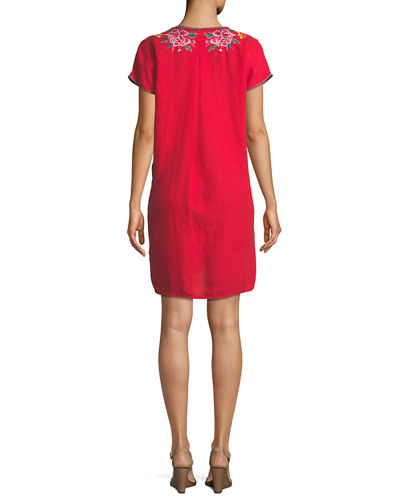 Peta Easy Linen Tunic Dress