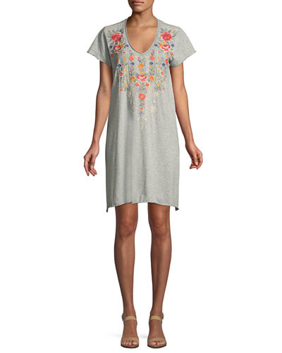 Johnny Was Hazleton Draped Tunic Dress, Plus Size