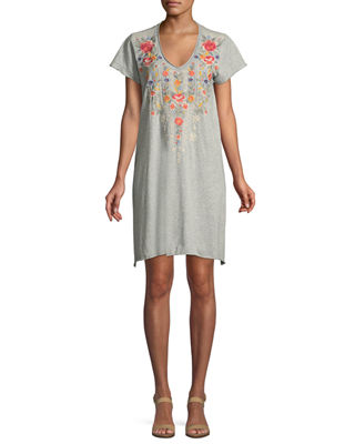 Johnny Was Hazleton Draped Tunic Dress