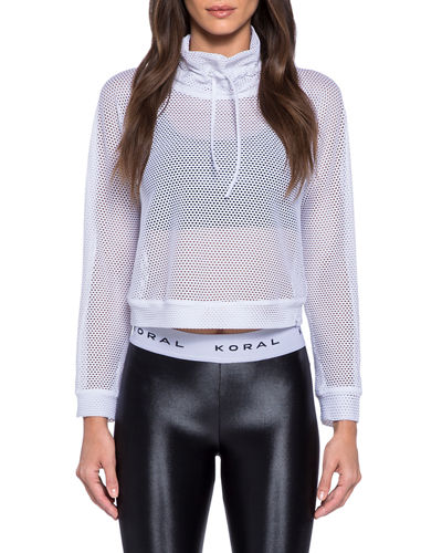 Pump Open Mesh Cropped Pullover