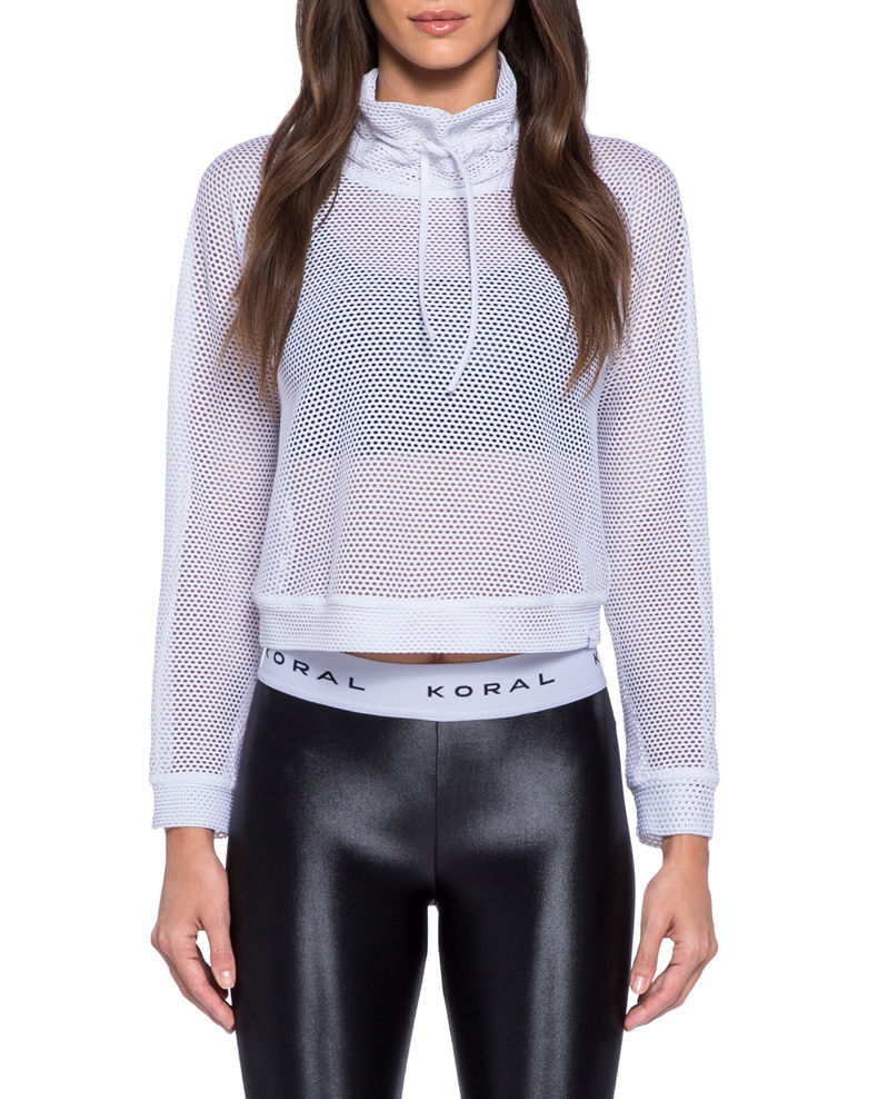 Koral Pump Open Mesh Cropped Pullover