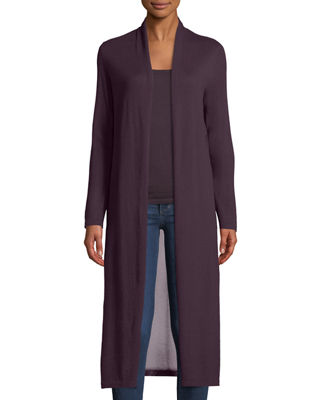 Neiman Marcus Cashmere Collection Cashmere Viscose-Back Duster