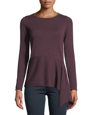 Neiman Marcus Cashmere Collection Cashmere Metallic Asymmetric