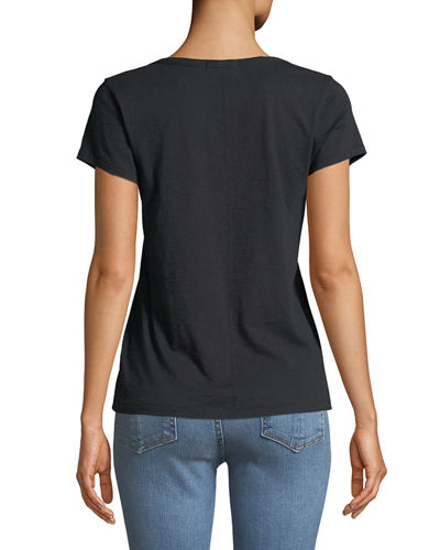 U-Neck Short-Sleeve Cotton Tee