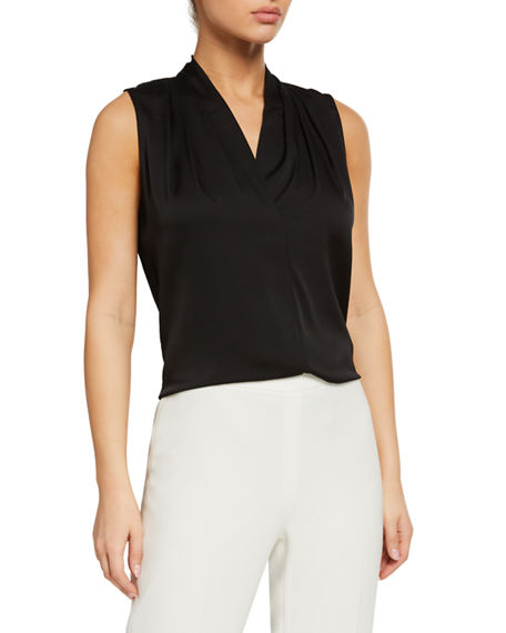 Kobi Halperin Mila Silk-Stretch Sleeveless Top