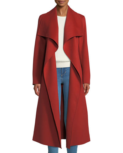Double-Face Wool Trench Coat w/ Belt