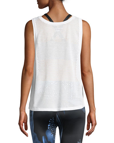 Mesh Me Up Scoop-Neck Muscle Tank