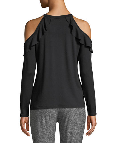 Frill Seeker Cold-Shoulder Top