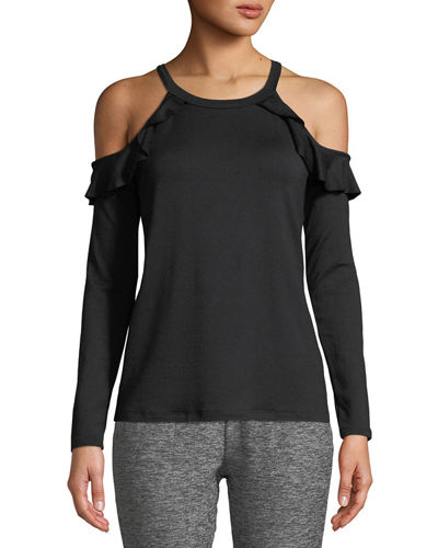 a63773ad7e4 Quick Look. Beyond Yoga · Frill Seeker Cold-Shoulder Top