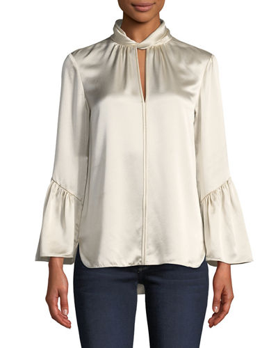 Laraib Ruffled Silk Blouse