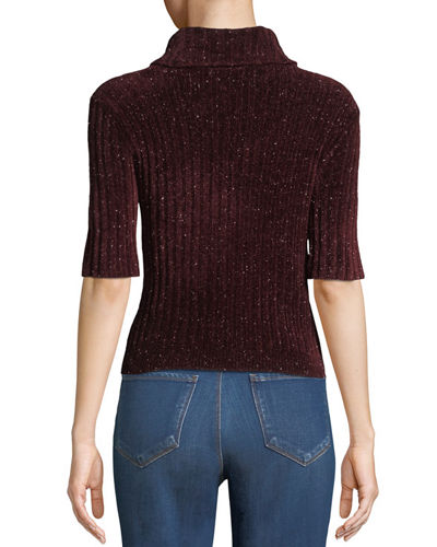 Fitz Short-Sleeve Turtleneck Sweater