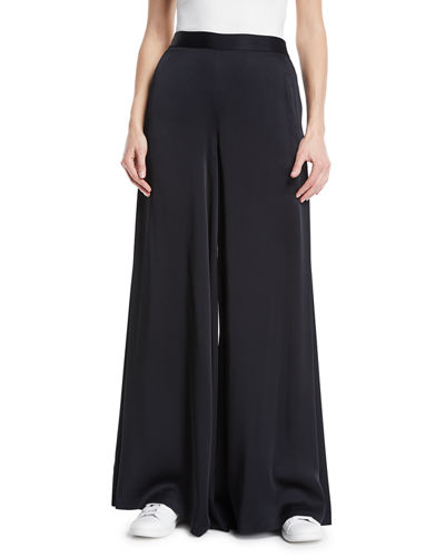 Nelson Crepe Wide-Leg Pants
