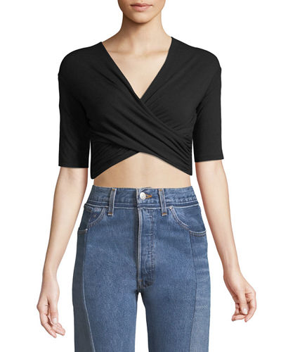 Tie-Back Wrapped Crop Top