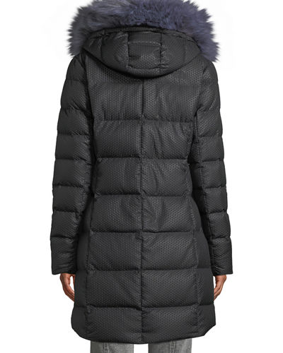 Hey Mama Parka Puffer Coat w/ Removable Faux-Fur Trim