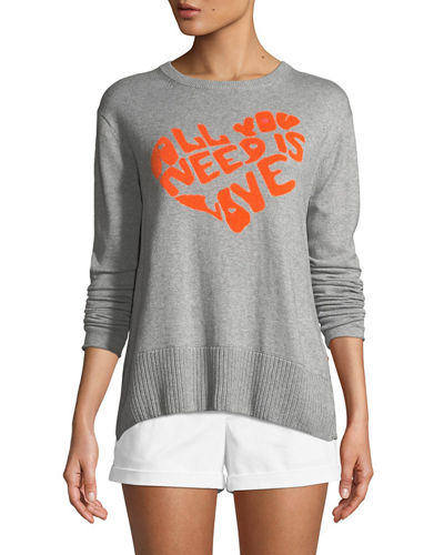 All You Need is Love w/ Heart Intarsia Sweater