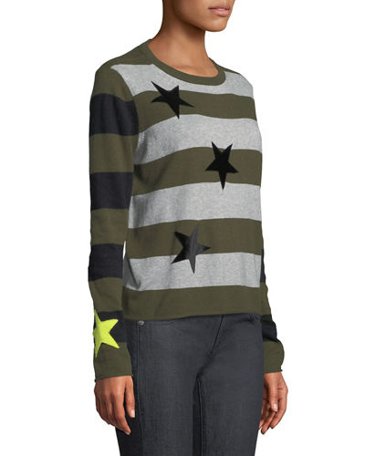 Lucky Star Striped Cotton/Cashmere Sweater