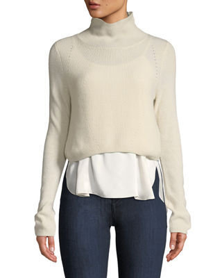 Elie Tahari Casper Turtleneck Long-Sleeve Cashmere Sweater w/