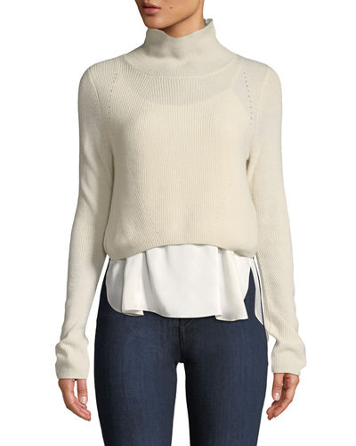 d4fb5bf994b Quick Look. Elie Tahari · Casper Turtleneck Long-Sleeve Cashmere Sweater ...