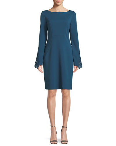 Boat Neck Dress Neiman Marcus