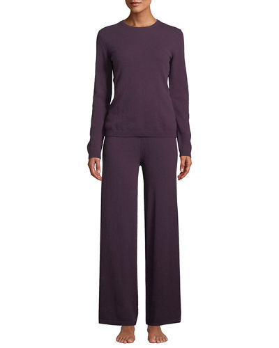 Cashmere Crewneck Sweater & Pant Lounge Set