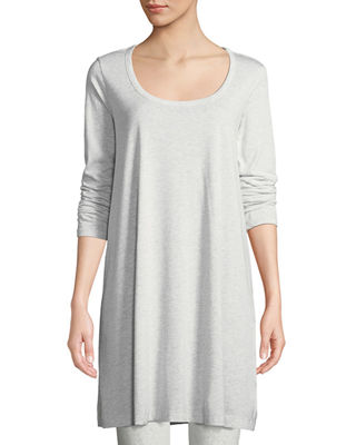 Joan Vass Scoop-Neck Long-Sleeve Tunic & Stretch-Jersey Leggings