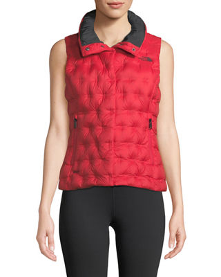 THE NORTH FACE Holladown Zip-Front Crop Vest in Red