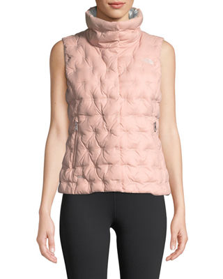 THE NORTH FACE Holladown Zip-Front Crop Vest in Misty Rose
