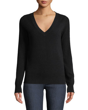 8d22f006b2c Neiman Marcus Cashmere Collection Cashmere V-Neck Sweater