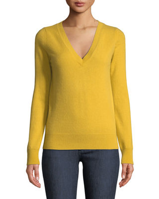 Neiman Marcus Cashmere Collection Cashmere V-Neck Sweater
