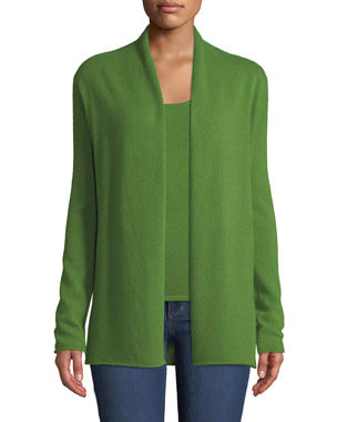 Neiman Marcus Cashmere Collection Cashmere Classic Draped Cardigan 2254e50a3