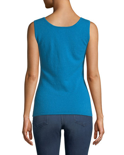 Scoop-Neck Cashmere Tank Top