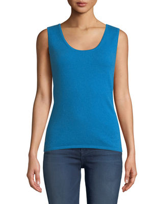 Neiman Marcus Cashmere Collection Cashmere Classic Tank Top